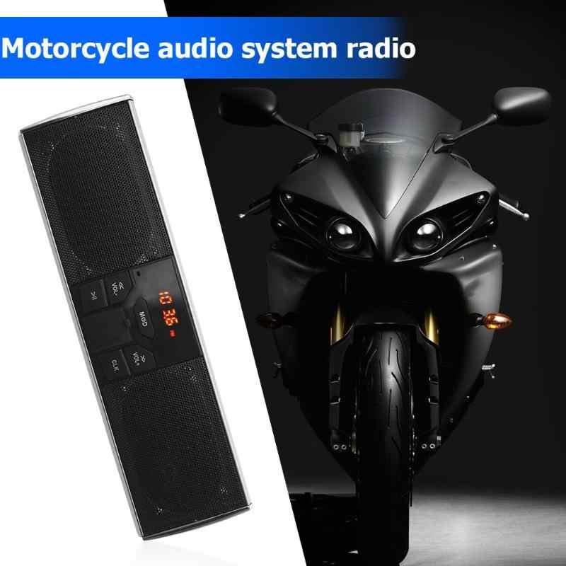 Прочный мотоциклетный динамик нежная текстура Bluetooth Мотоциклетный Руль аудио усилитель динамик USB TF радио приложение управление