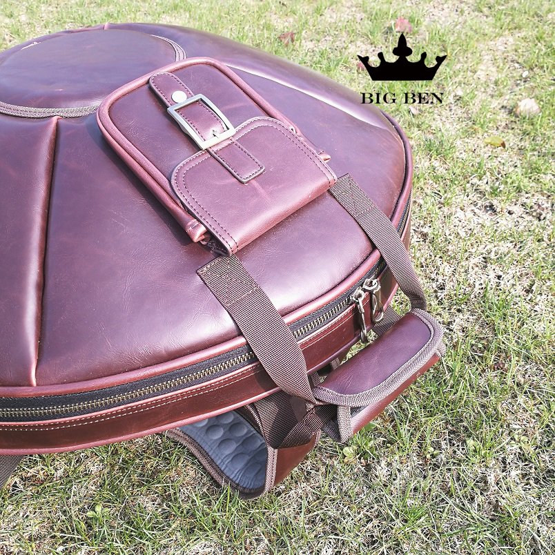 Upgraded thick black HANDPAN bag leather brown big drum case Percussion Accessories bag HandPan case handpan box backpack bags