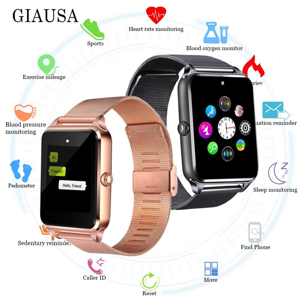 Z60 Smart Watch With Sim Card Bluetooth SmartWatch Z60 relogio inteligente Smartwatch GT08 Plus reloj inteligente PK GT08 Band