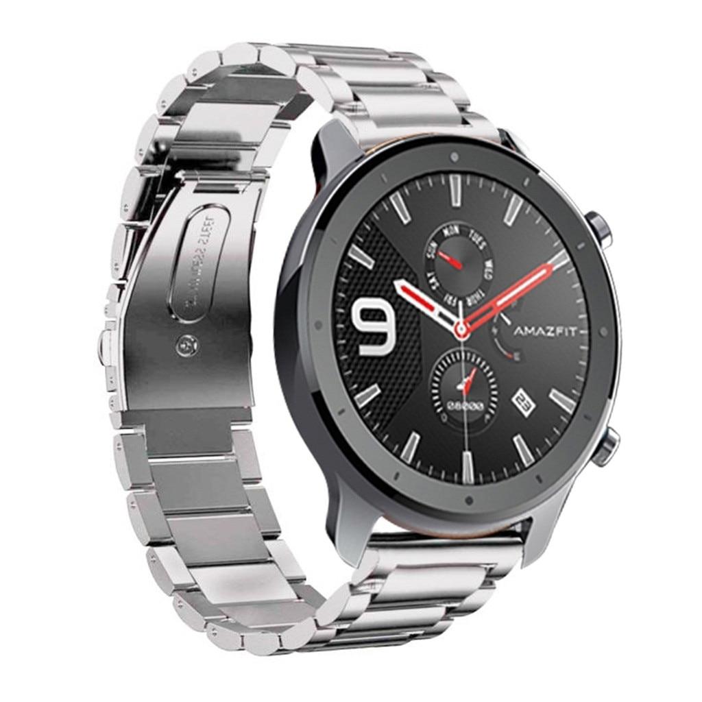Watchbands Watch Strap For AMAZFIT GTR Smart Watch 47mm Luxury Fashion Stainless Steel Wristband Metal Watch Band 19JUL30