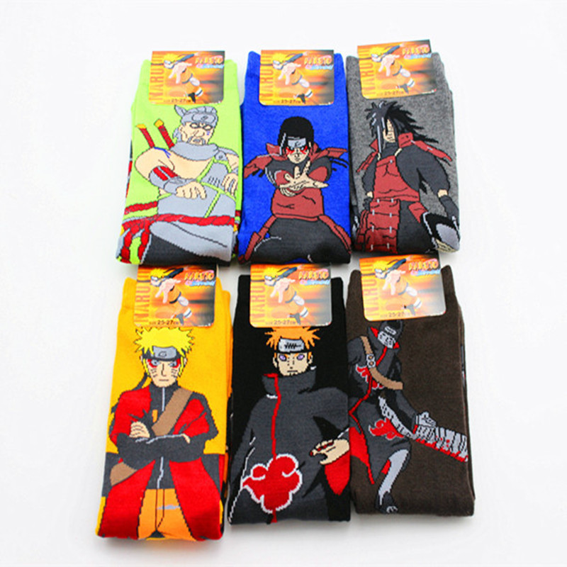 Cartoon Naruto Akatsuki Members Itachi Socks Fashion Personality Funny Sock Hoshigaki Kisame Men Socks Spring Summer Best Sell