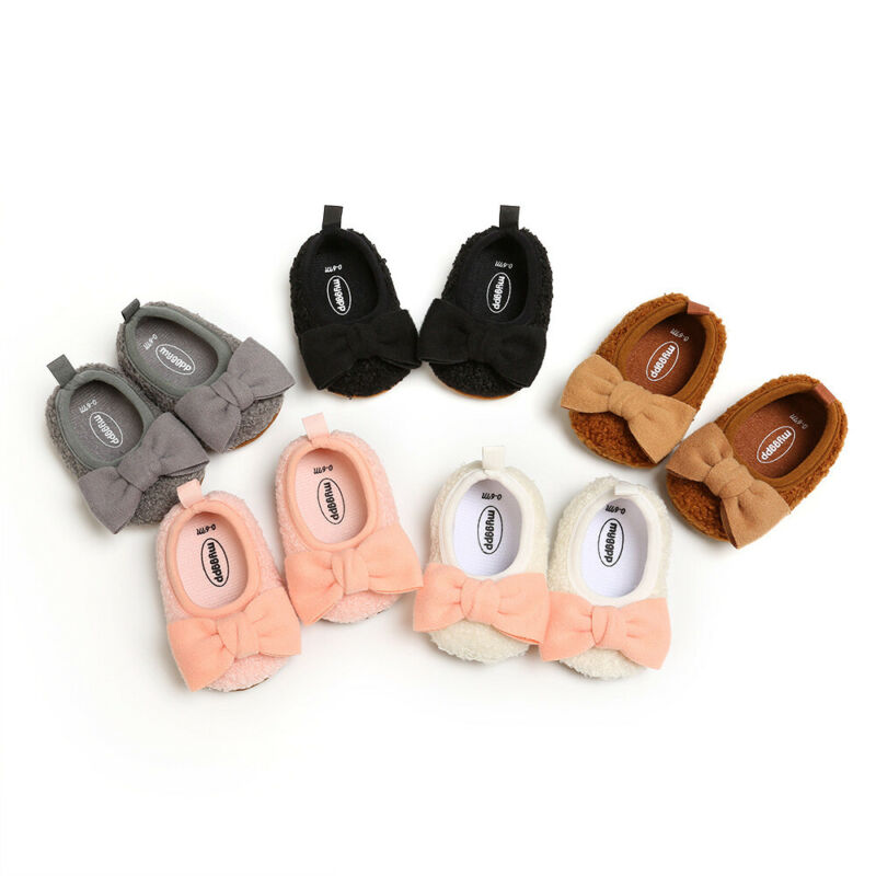 2020 Brand New Toddler Newborn Unicorn Baby Crawling Shoes Boy Girl Lamb Slippers Prewalker Trainers Fur Winter First Walkers
