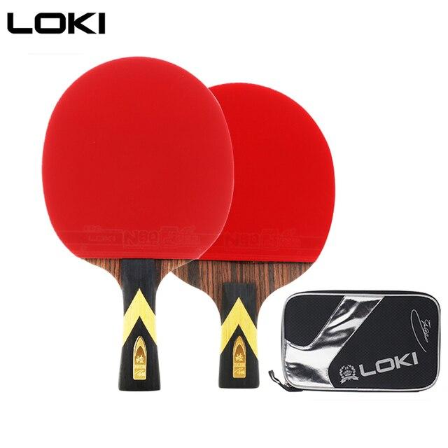 LOKI 6 yıldız profesyonel masa tenisi raketi abanoz karbon masa tenisi raketi hızlı saldırı Ping Pong raket ark Ping Pong raketleri