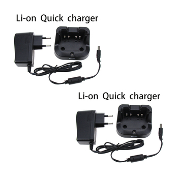 2Pcs BC-213 Rapid Battery Desktop Charger for ICOM IC-F1000D IC-F2000D Radio new topcon bc 19b charger for topcon total stations bt 32q 2 pin battery