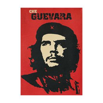 Celebrity Revolutionary Che Guevara Red Portrait Painting Vintage Kraft Paper Poster Bar Bedroom Decor Painting Wall Sticker image