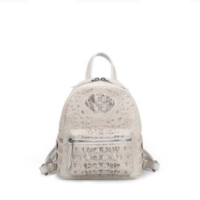 moben new  crocodile leather  backpack  female  The new  Female bag  The large capacity  backpack  Female tide women backpacks