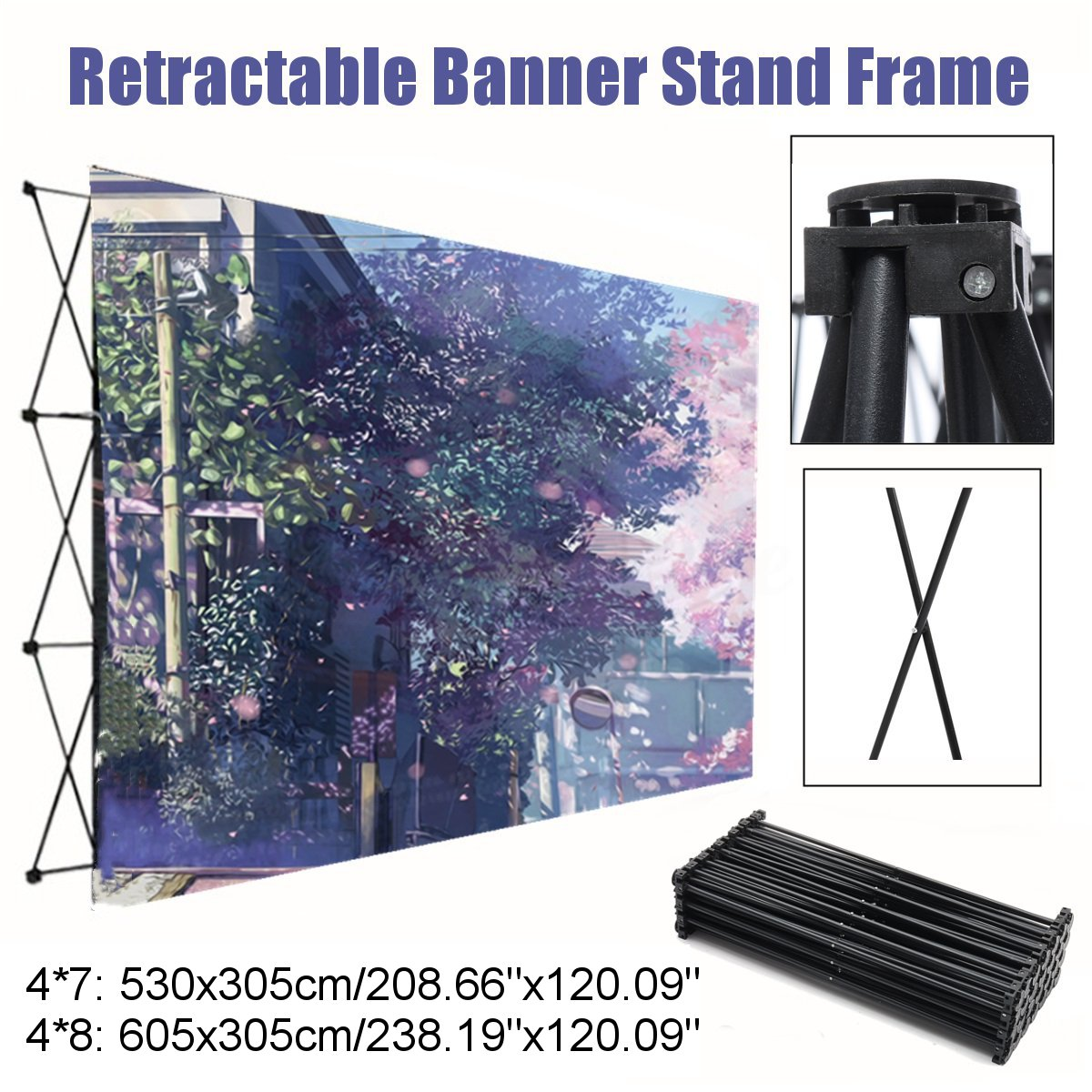 Retractable Iron Flower Wall Stand Frame Wedding Backdrop Decor Banner Presentation Advertisement Display Shelf Holder Kit