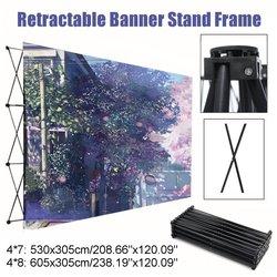 Retractable Iron Flower Wall Stand Frame Wedding Backdrop Decor Banner Presentation Advertisement Display Shelf Holder Kit