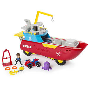 Kids Toy Boat Play-Set Patrol Action-Figure Rescue Puppy Marine Dog Canina Paw Juguetes