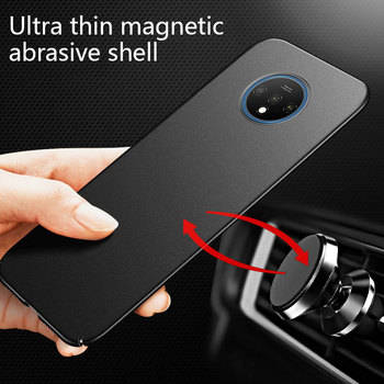 Ultra-thin Magnetic Hard Matte PC Phone Case For Oneplus 7T 7 Pro 6T 6 5T 5 Luxury Frosted Protection Cover For 7 6T Coque Funda for oneplus 6t case luxury robot hard back phone case for oneplus 6t 6 t back cover for oneplus 6t coque fundas