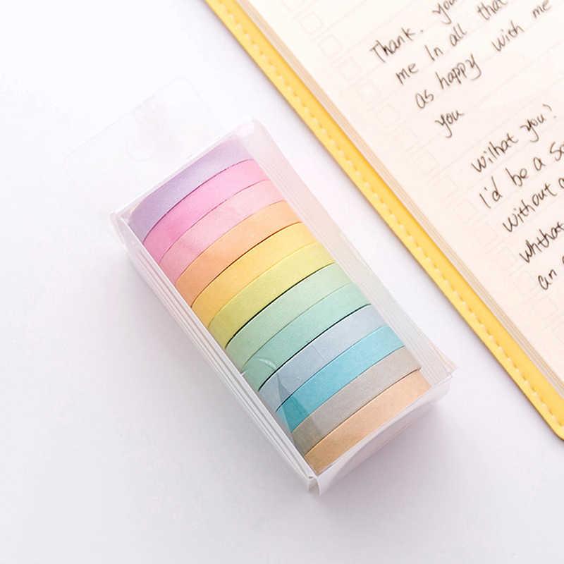 Murni Masking Tape Lembut Warna Kertas Washi Tape Dekoratif Stiker DIY Alat Tulis Sekolah 3.5 Cm 5 M