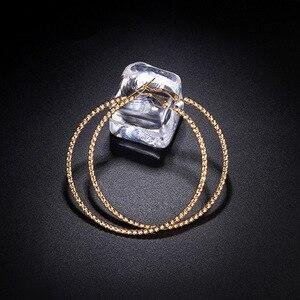 Большие маленькие круглые серьги-кольца для женщин, женские брендовые серебряные, розовые, золотые, черные цвета, кольца, ювелирные изделия ...