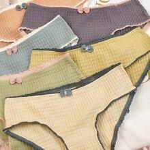 Girl Briefs Lingerie Pink Lovely Panties Underwear Women Seamless Cotton Middle-Waist