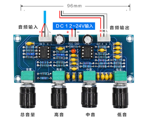 Image 5 - XH A901 ne5532 treble bass 볼륨 조절 기능이있는 톤 보드 앰프 오디오 보드 용 프리 앰프 톤 컨트롤러