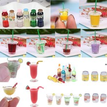 Accessories Dollhouse Toy Furniture-Toy Mini Resin 1:12 Cups Decoration Lemon-Water-Cup