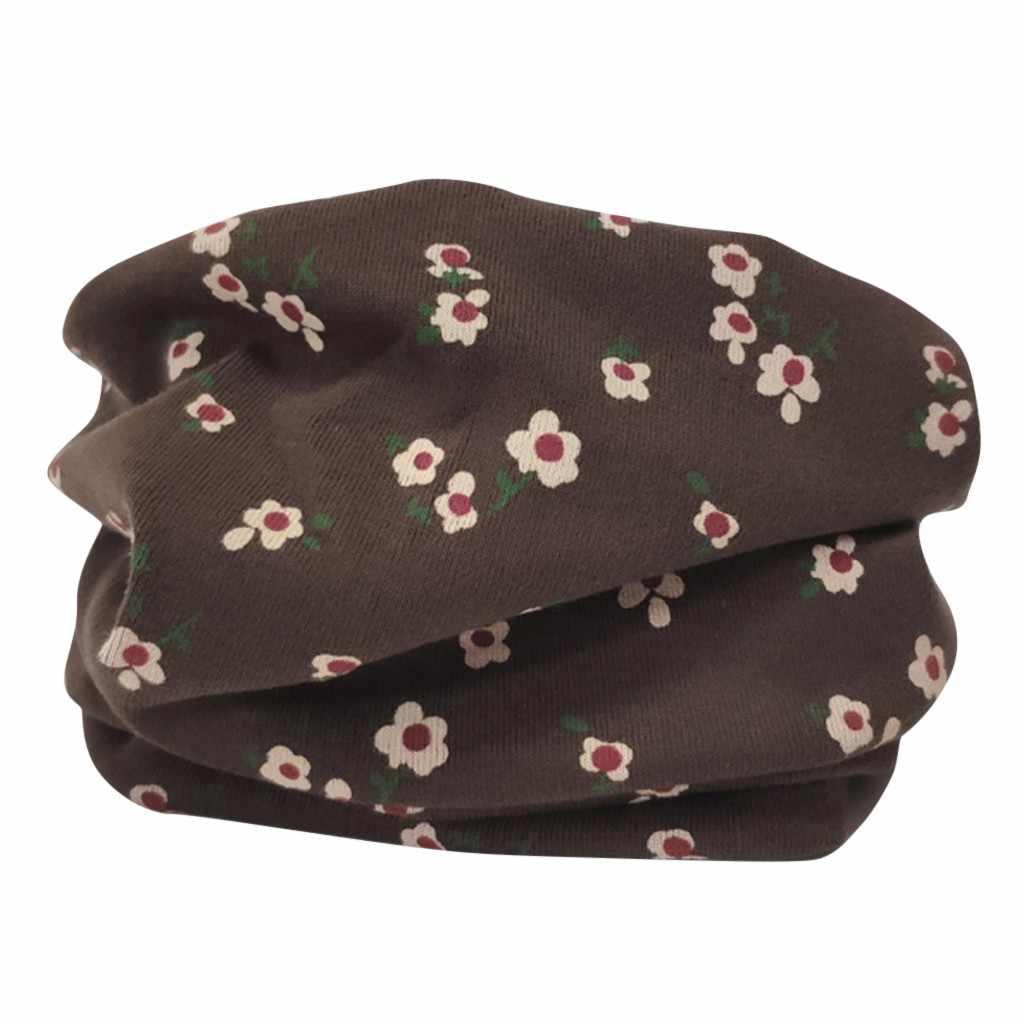 Плотный хлопковый шейный платок с рисунком для маленьких девочек, шарфы, зимняя детская шаль, теплый шарф с круглым вырезом, шарфы, шарф