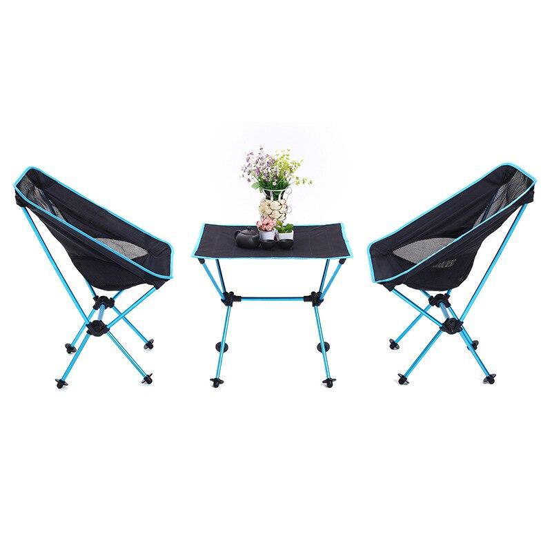 Новый стиль алюминиевый сплав складные столы и стулья набор портативный Открытый Кемпинг барбекю многоцелевой складной стол три-piec