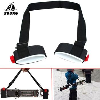 FDBRO Adjustable Portable Double Snowboard Straps Snowboard Straps Snowboard Shoulder Straps Handle Straps Porter Hook Nylon фото