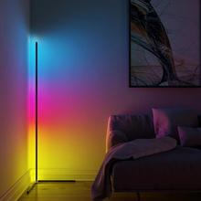 Modern Variable Color LED Corner Floor Lamp With EU/US Plug Remote Control Dimmer Standing Floor Light for Living Room Bedroom classic plastic pe outdoor waterproof led floor lamp remote control rechargeable led glowing flower pot floor boughpot