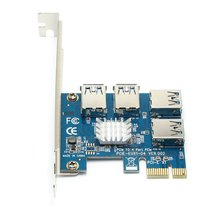 Pci-E To Pci-E Riser Card 1 To 4 Pci-E To Pci-E Slot One Tow Four Usb3.0 Pci-E Expansion Card Eux104