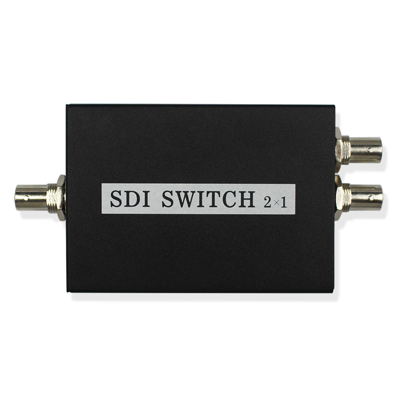 2x1 <font><b>SDI</b></font> Switch 3G/<font><b>HD</b></font>/<font><b>SDI</b></font> 2x1 <font><b>Switcher</b></font> with BNC Female Support 1080P Distribution Extender for Projector Monitor Camera image