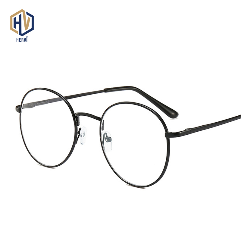 Ultra Light Reading Glasses Vintage Metal Round Frame Myopia Spectacles Classic Nearsighted Eyeglasses