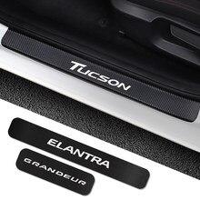 4 шт., автомобильные наклейки из углеродного волокна для Hyundai Elantra Getz greatnexo PALISADE STAREX TIBURON Tucson VENUE