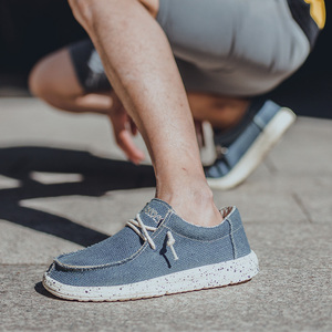 Image 5 - KATESEN 2020 Summer Mens Canvas Shoes Lightweight Breathable Slip on Casual Shoes Fashion Beach Vacation Loafers Big Size 48