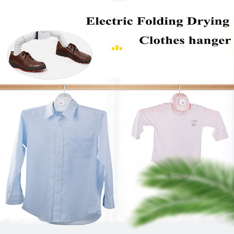 Rantion Foldable Hanger Dryer Portable Electric Clothes Shoes Hot & Cool Air Drying Machine