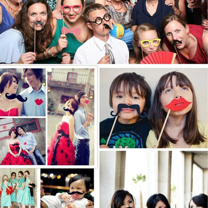 50 Buah Foto DIY Natal Pesta Dekorasi untuk Rumah Pesta Tahun Baru Photobooth Props