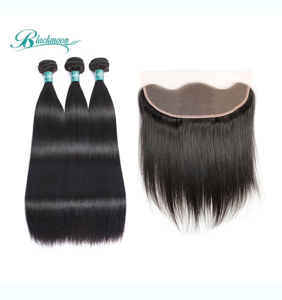 straight hair bundles with frontal3+13_05
