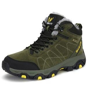 Image 2 - סתיו חורף Mens טיולים מגפי נשים של נעלי ספורט נעלי טיפוס הרים טקטי ציד הנעלה חדש קלאסי חיצוני ספורט גבר