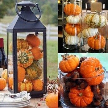 25pcs mini artificial pumpkin fake