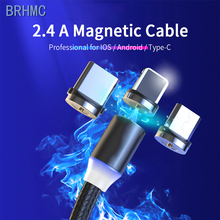 Magnetic Micro USB Cable For iPhone Android Mobile Phone Fast Charging USB Type C Cable Magnet Charger Wire Cord magnetic charge magnetic adsorption usb charging cable micro type c lighting for iphone x fast charge charger cord for xiaomi mobile phone cable