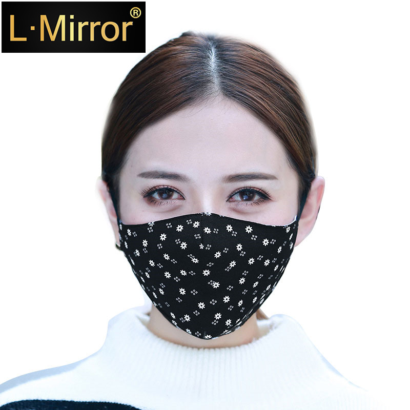 L.Mirror 1Pcs Fashion Face Mouth Mask Anti Dust Filter Windproof Mouth-muffle Bacteria Proof Flu Care Reusable