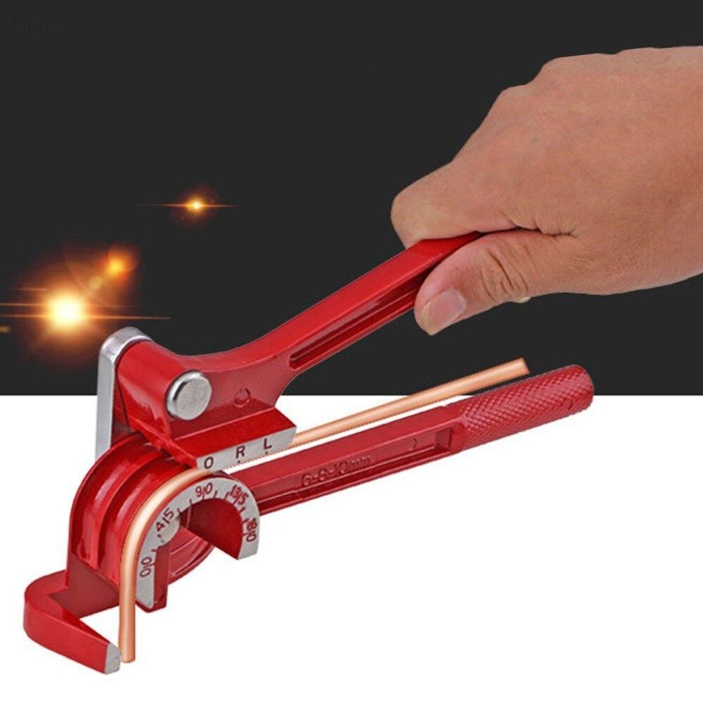 Tubo-em-tubo de Dobra da Tubulação Máquina de Dobra da Tubulação Graus Combinação Bender Ferramenta 6 1mm 8mm 10 Milímetros Tubulação 180 3