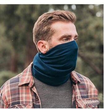 2020 Fall Unisex 100% Merino Wool Neck Gaiter& Bandana Women Men Merino Wool Ski Neck Gatier Ring Wrap 1 Layer Warm Scarf