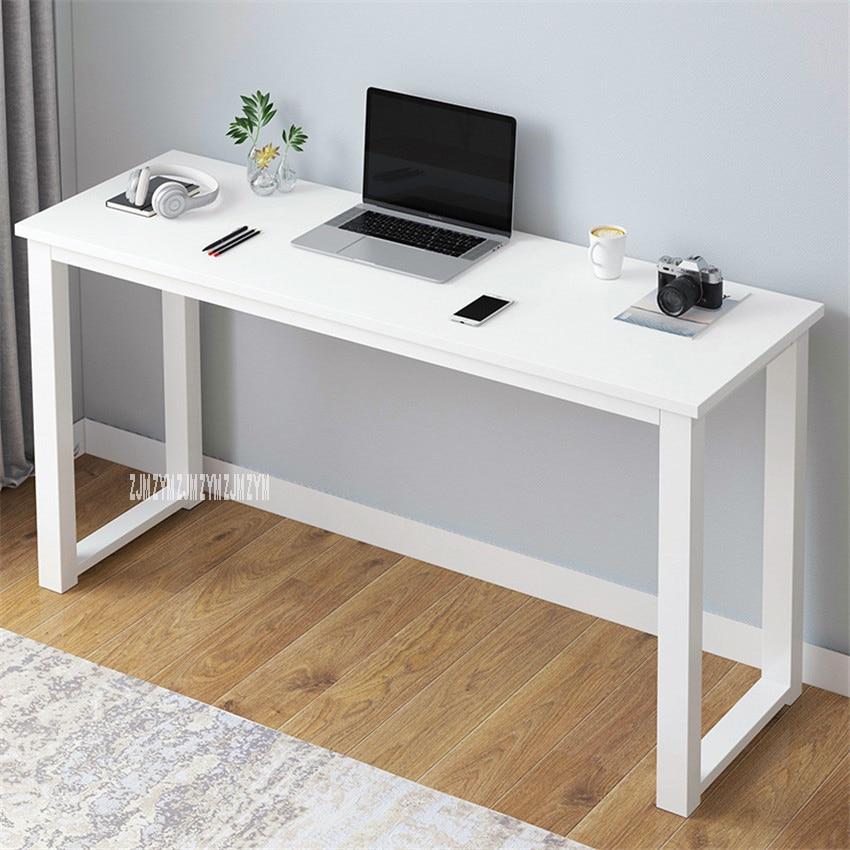 B2783 80/100/120/140cm Modern Manmade Board Steel Frame Office Computer Table Household Economical Large Desktop Study Desk