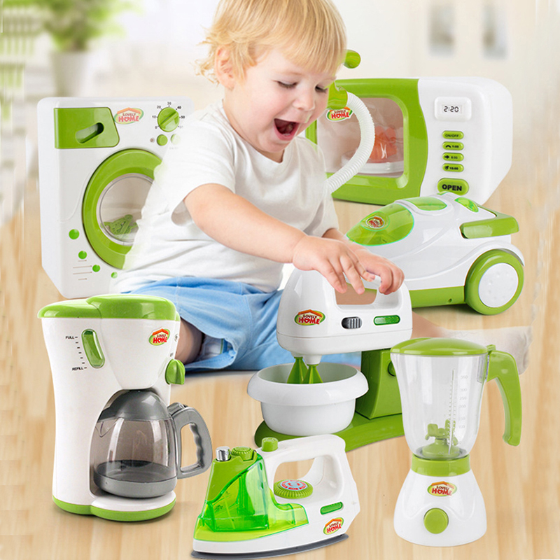Simulation Home Appliances Toys Children Pretend Play Houseworks Games Kitchen Blender Juicer Microwave Oven Sets Toys Kid Gifts