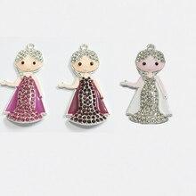 Новинка, подвески принцессы со стразами 46 мм * 25 мм 10 шт./лот, новый дизайн