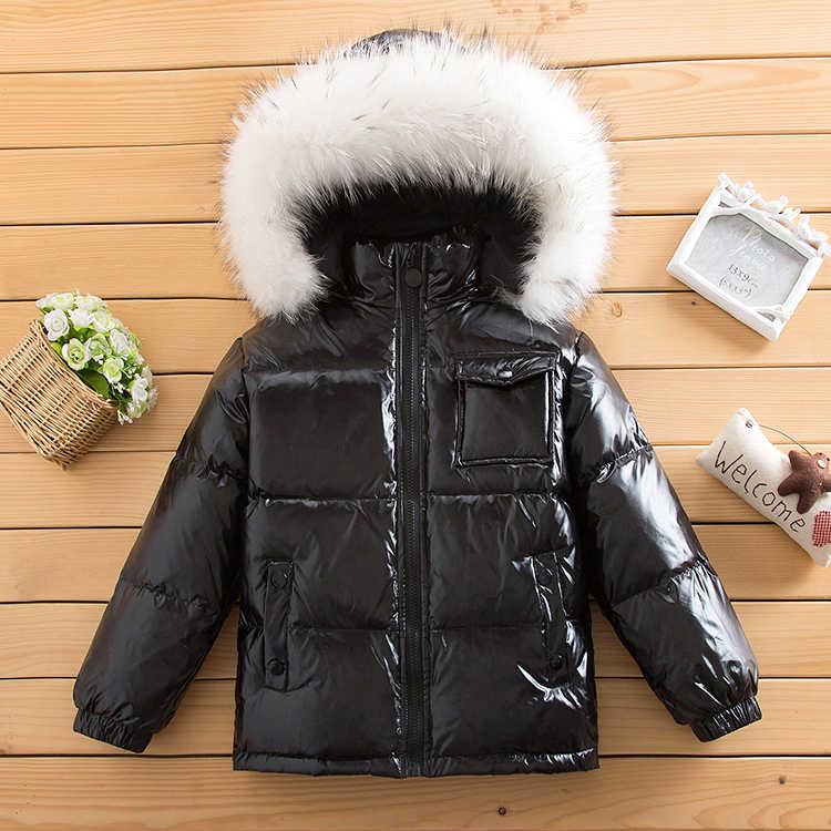 OLEKID-30 Derece Kış Aşağı Ceket Erkekler Için Sıcak Kalınlaşmak Kızlar Parka 1-8 Yıl Çocuklar Bebek Snowsuit çocuk Giyim Ceket