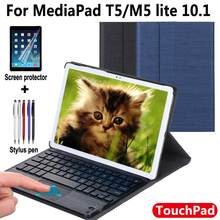 for Huawei MediaPad M5 lite 10.1 Keyboard Case for Huawei MediaPad T5 Touchpad Bluetooth Keyboard case Cover