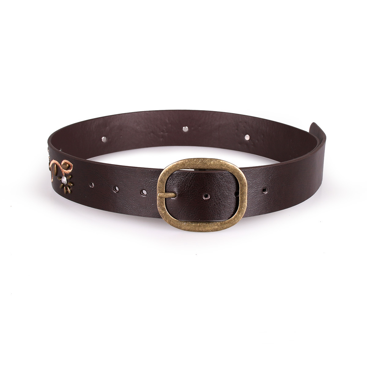 2018 Best Sale New Women Lady Fashion Metal Fhin Gold Buckle Skinny PU Leather Waistband Belt woman belts for dress SE23
