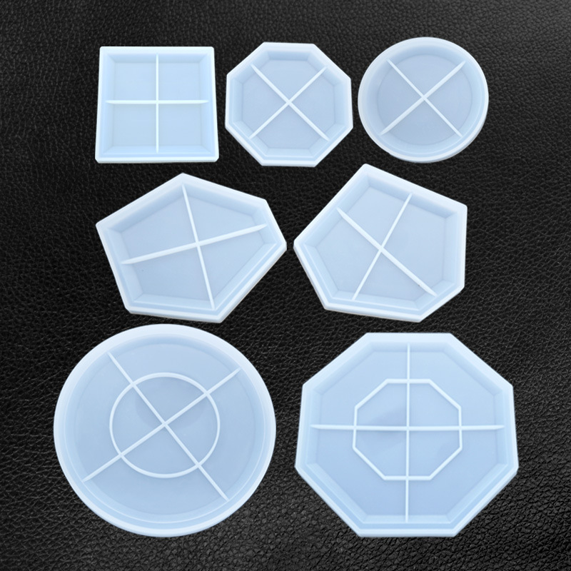 Irregular Geometry Coaster Handmade Table Jewelry Molds For Making Jewelry Tray Cup Mat Jewerly Accessories