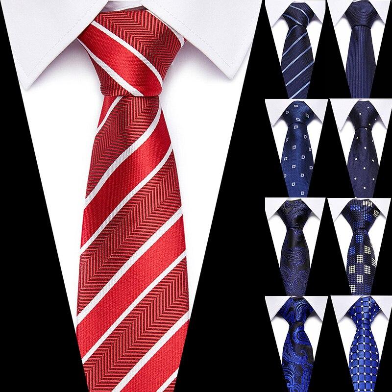 Men's Tie Formal Business Vestidos Wedding Classic Stripe 7.5cm Fashion Shirt Dress Jacquard Woven Accessories Ties