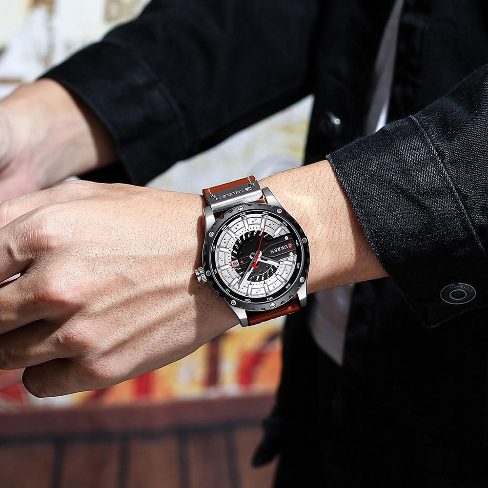 Hf65d6b6ec5da43cfa29c2cc0a77c30b15 CURREN Watch Wristwatch  New Chic Luminous hands