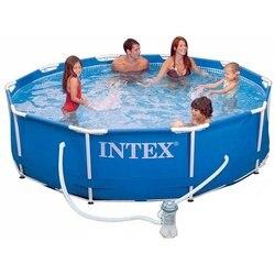 INTEX Бассейн каркасный Metal Frame 305x76см 4485л насос с фильтром 1250 л/ч
