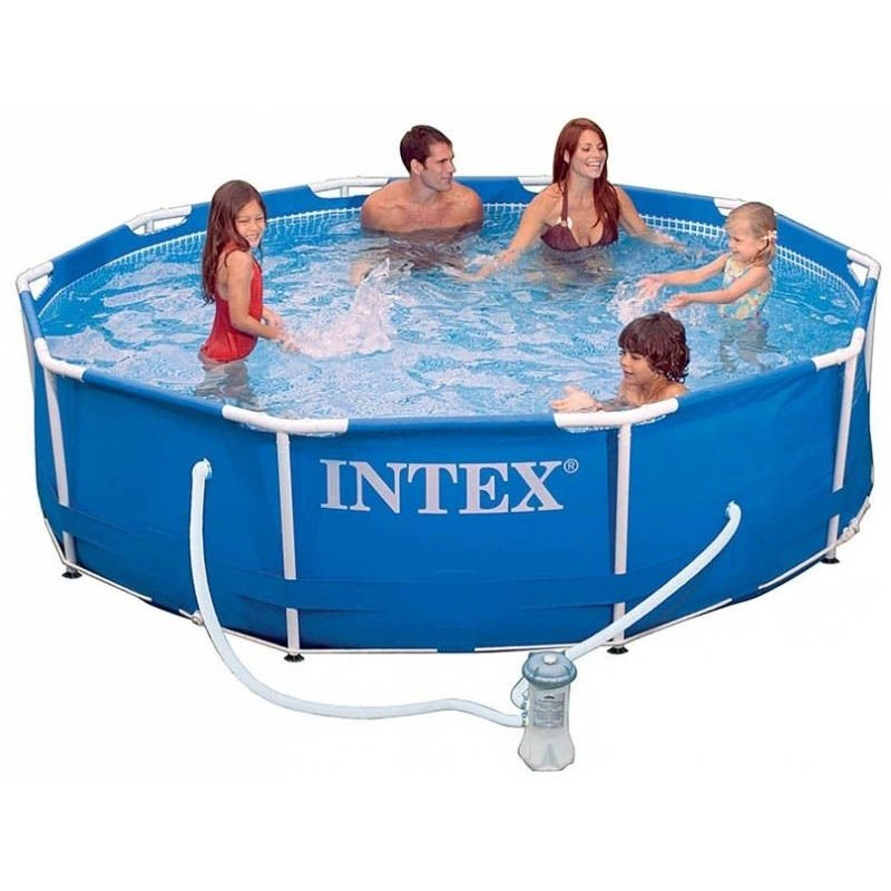 Intex Pool scaffold metal frame 305x76 cm 4485л pump with filter 1250 L/H