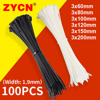 Nylon Cable Ties Self Locking Plastic Loop Wire Black 2.7x200 3.6x300MM 1.9 Wrap Strap Zip Organiser Fasten Tension Belt 100PCS 100pcs 3x100 3x120 3x150mm assorted self locking nylon cable ties black plastic zip tie loop wire wrap zip ties