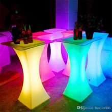 Rechargeable LED Luminous cocktail table waterproof glowing led bar table lighted up coffee table bar kTV disco party supply